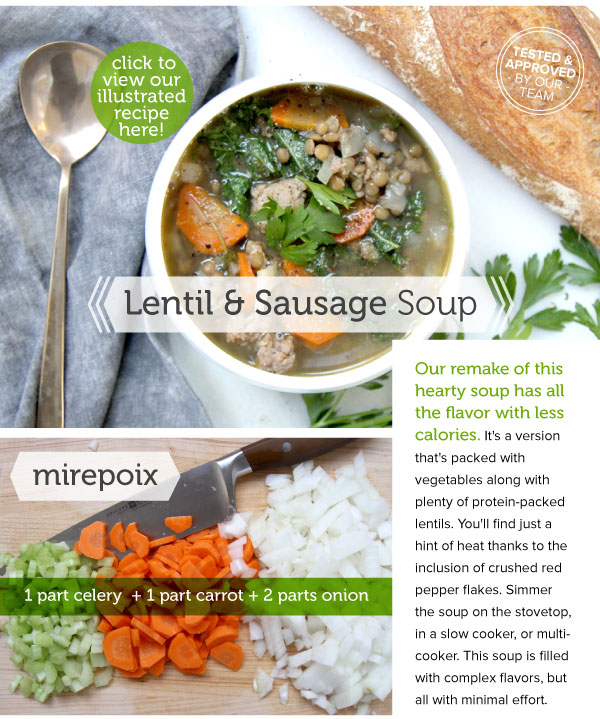 RECIPE: Lentil and Sausage Soup