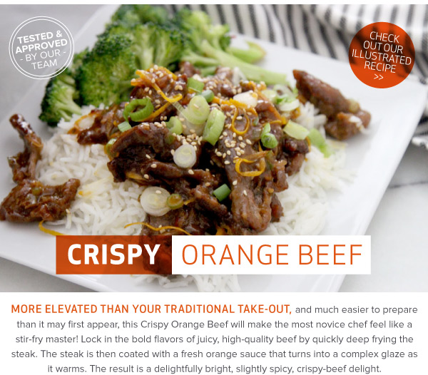 RECIPE: Crispy Orange Beef
