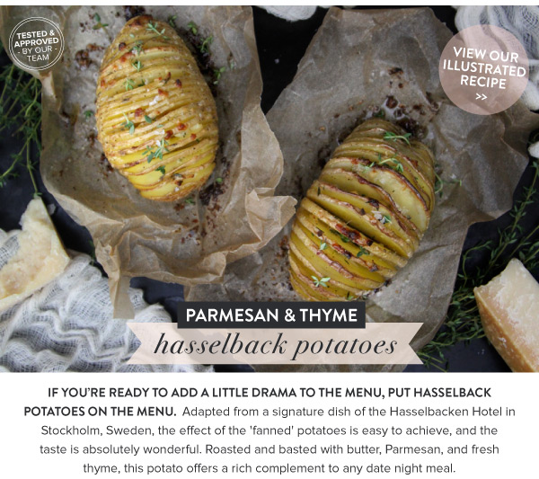 RECIPE: Parmesan and Thyme Hasselback Potatoes