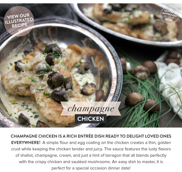 RECIPE: Champagne Chicken