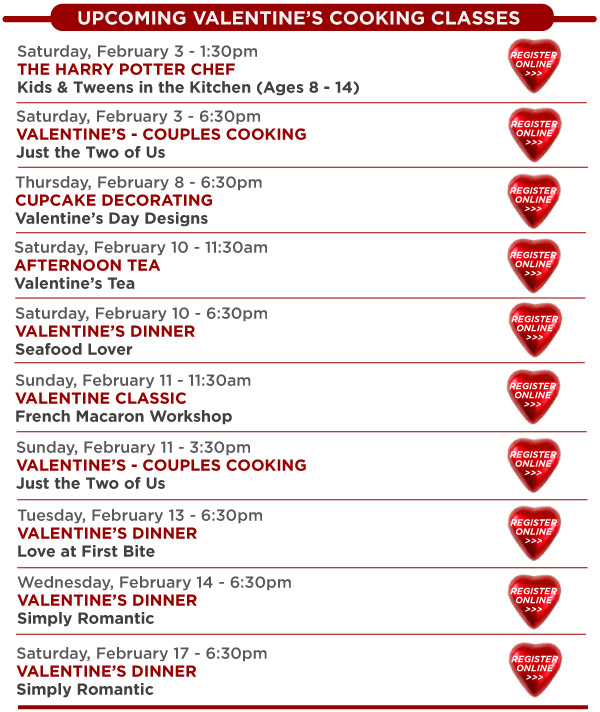 Valentine's Classes