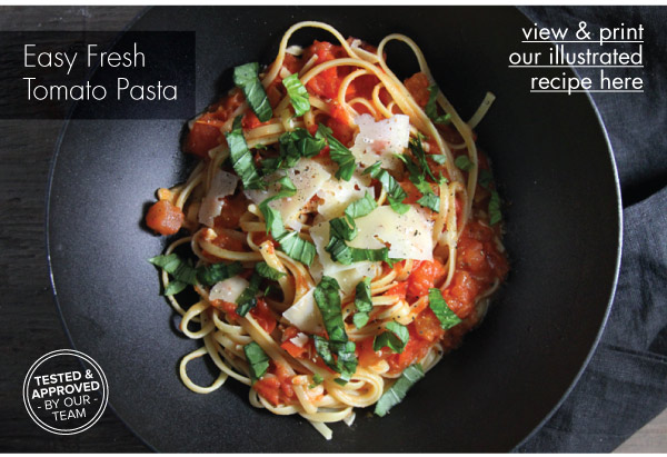RECIPE: Easy Fresh Tomato Pasta