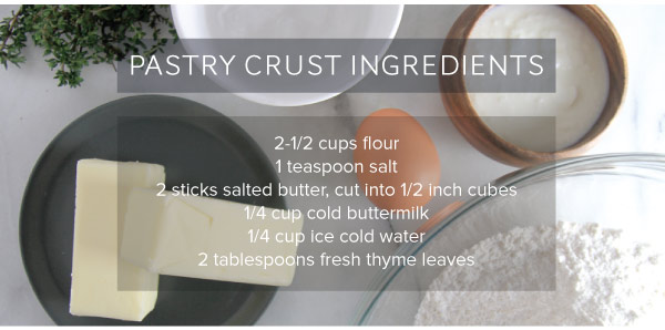 Pastry Crust Ingredients