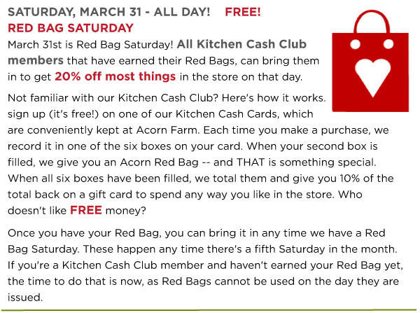 Red Bag Saturday