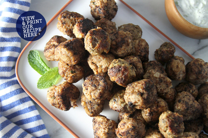 Greek Meatballs (Keftedes) with Tzatziki Sauce