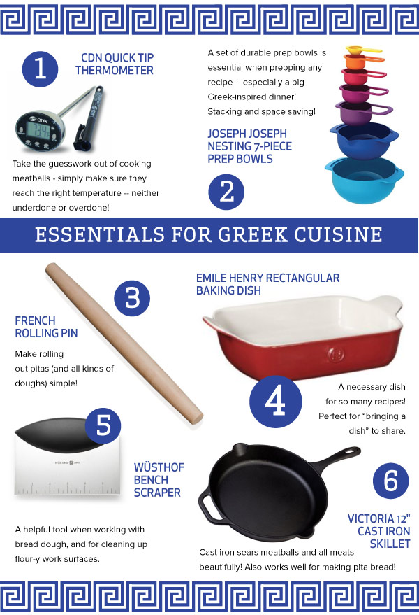 Essentials for Greek Cuisine