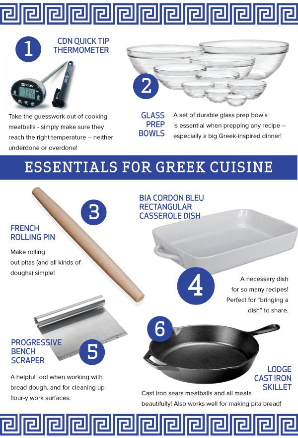 Essentials for Greek Cuisine
