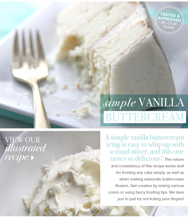 RECIPE: Simple Vanilla Buttercream