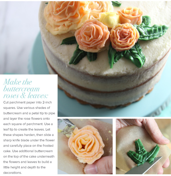 Buttercream Roses and Leaves