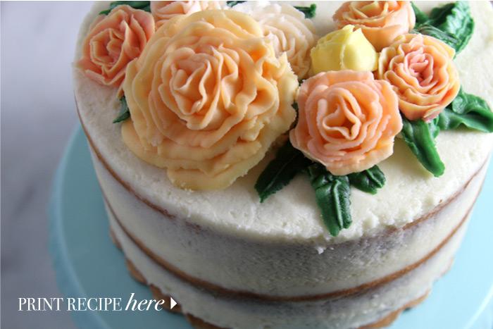 Half-Dressed Vanilla Cake