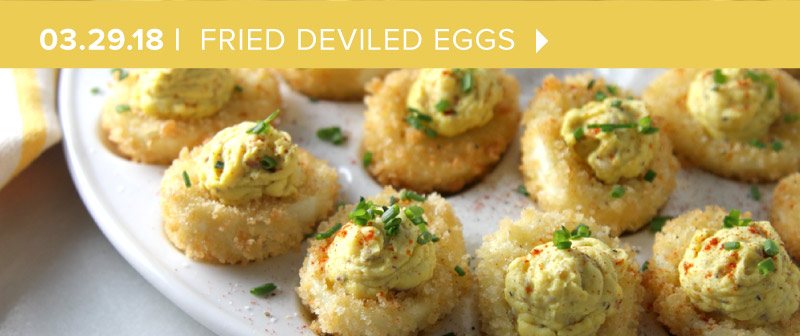 Eggs-traordinary Fried Deviled Eggs