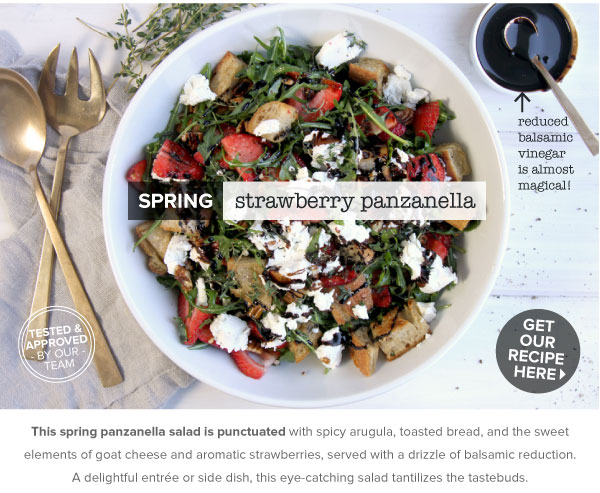 RECIPE: Spring Strawberry Panzanella
