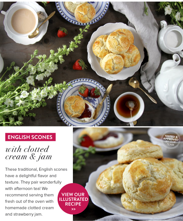 RECIPE: English Scones with Clotted Cream and Jam