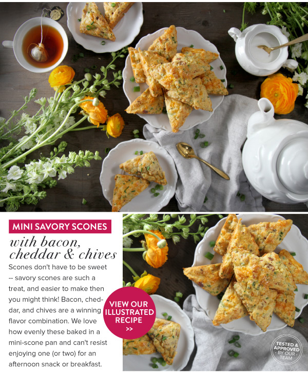 RECIPE: Mini Savory Scones with Bacon, Cheddar and Chives