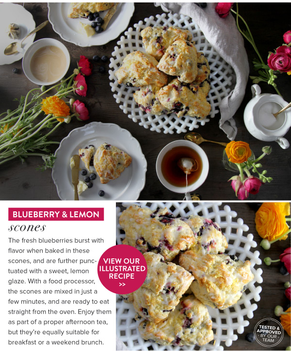 RECIPE: Blueberry and Lemon Scones