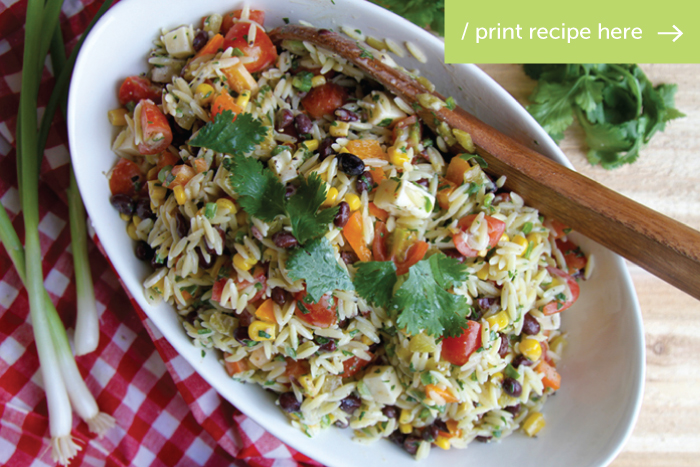 Southwest Orzo Salad
