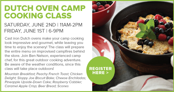 Dutch Oven Camp Cooking Classes