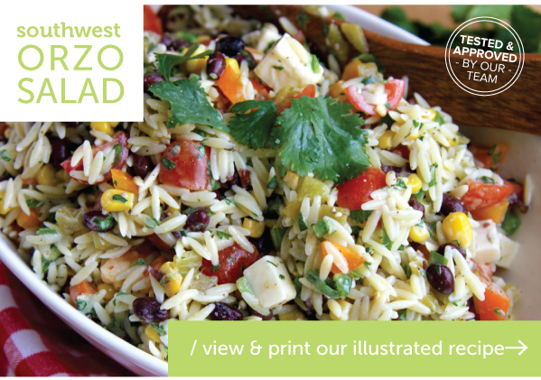 RECIPE: Southwest Orzo Salad