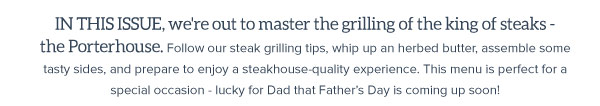 Great Grilling a steakhouse menu for two