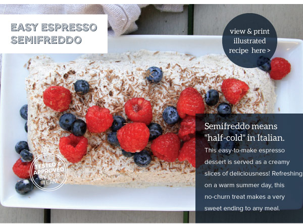 Easy Espresso Semifreddo
