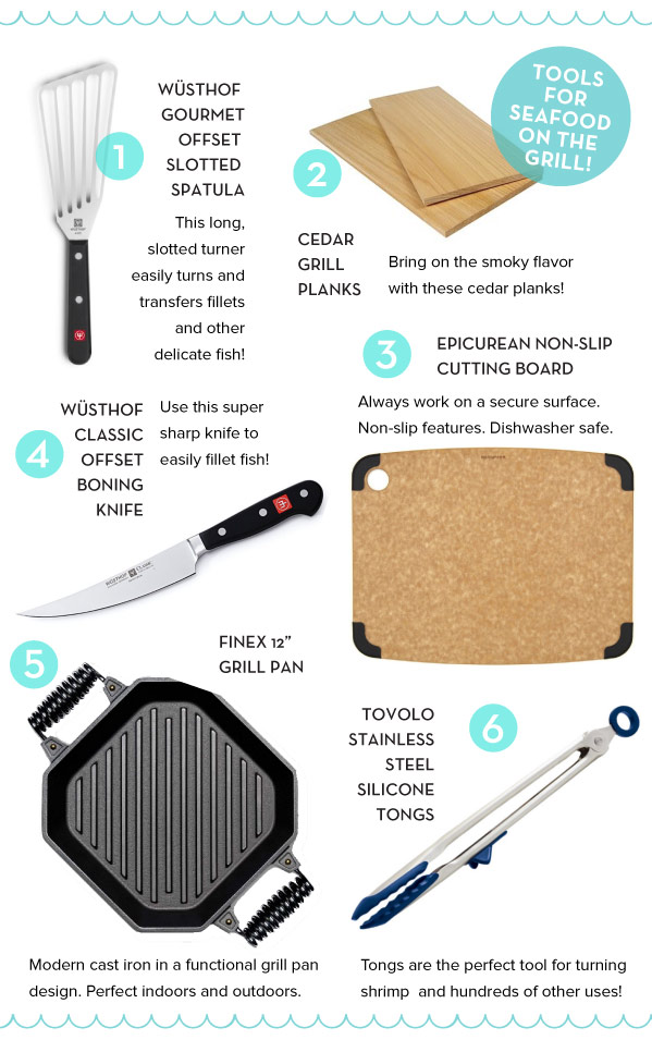 Tools for Grilling Seafood