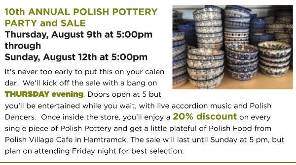 Polish Pottery Sale