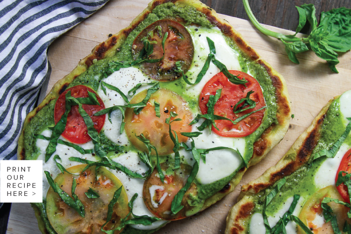 Grilled Pesto Flatbread
