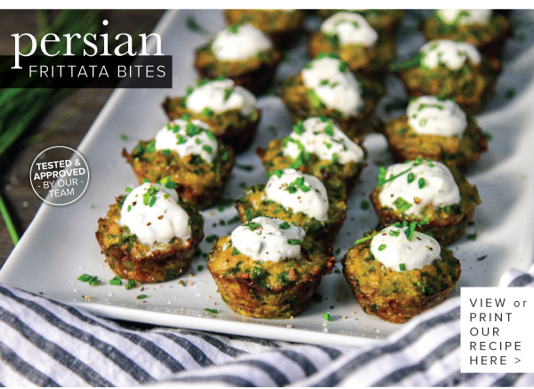 RECIPE: Persian Frittata Bites