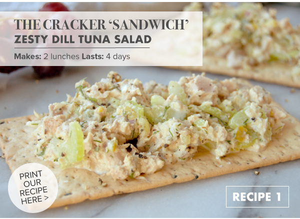 RECIPE: The Cracker Sandwich: Zesty Dill Tuna Salad
