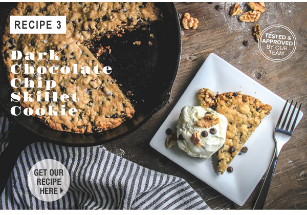 RECIPE_ Dark Chocolate Chip Skillet Cookie