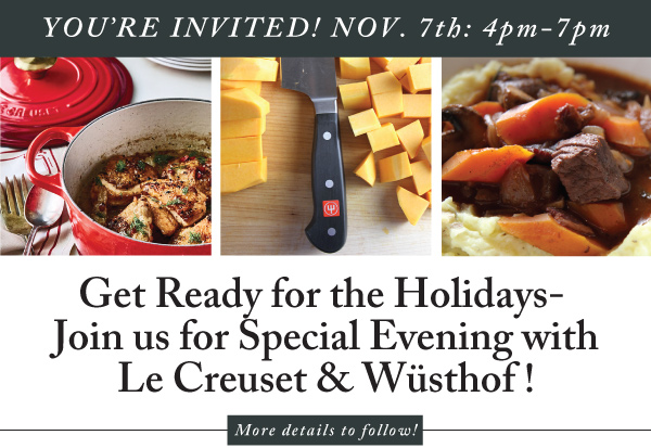 Le Creuset and Wusthof