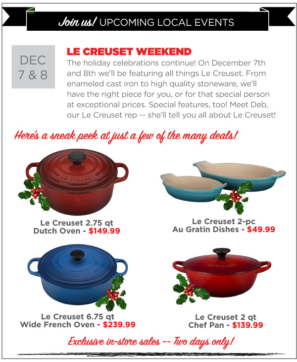Le Creuset Weekend