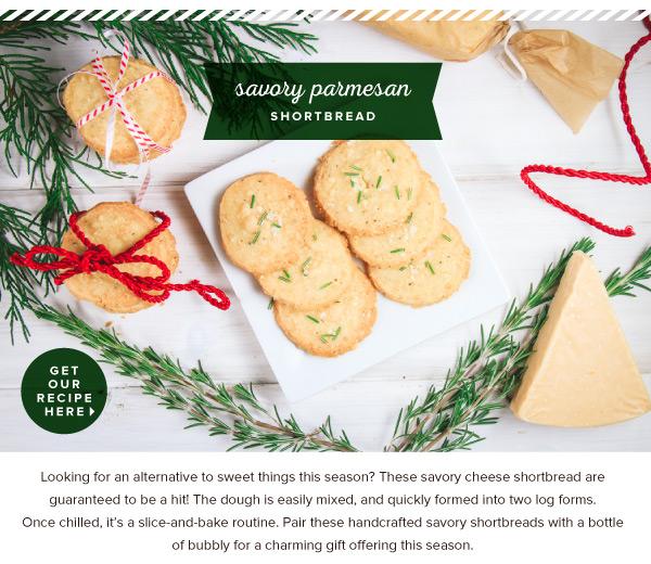 RECIPE: Savory Parmesan Shortbread