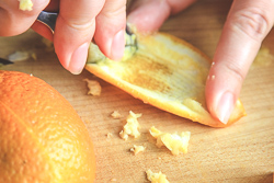 Scrape Orange Peels