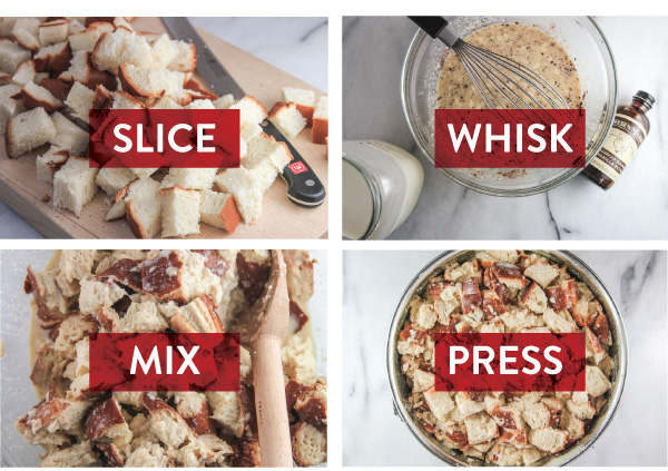 Slice, Whisk, Mix, Press