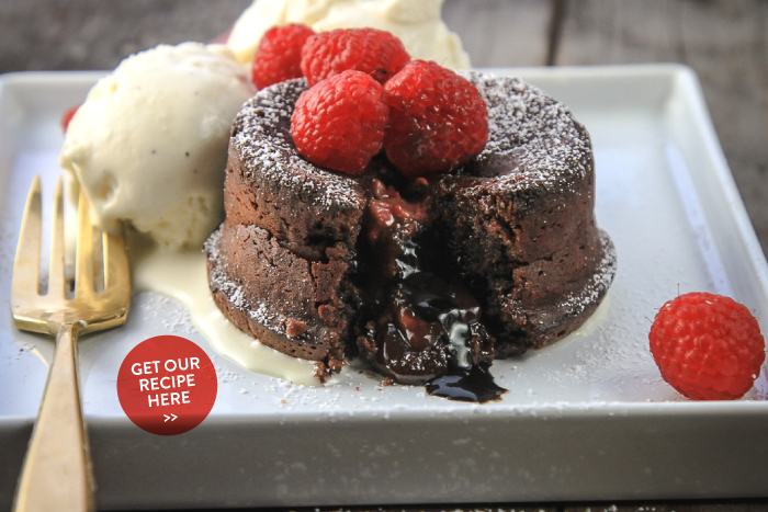 Chocolate Raspberry Molten Lava Cakes