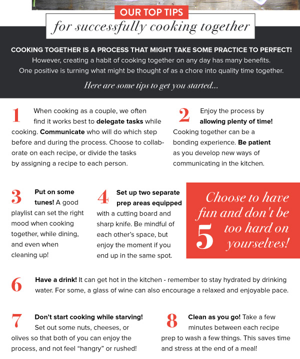 Top Tips for Cooking Together