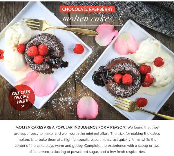 Chocolate Raspberry Molten Cakes