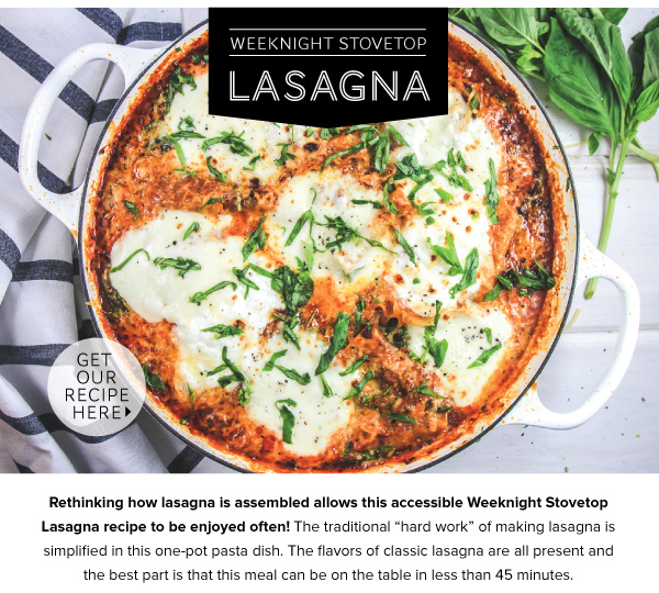 Weeknight Stovetop Lasagna