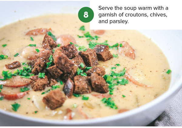Swiss Cheese and Sausage Soup