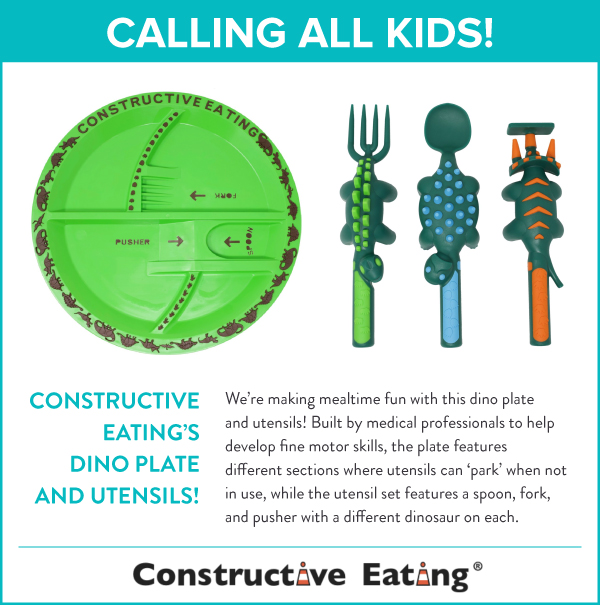 Dino Plate and Utensils
