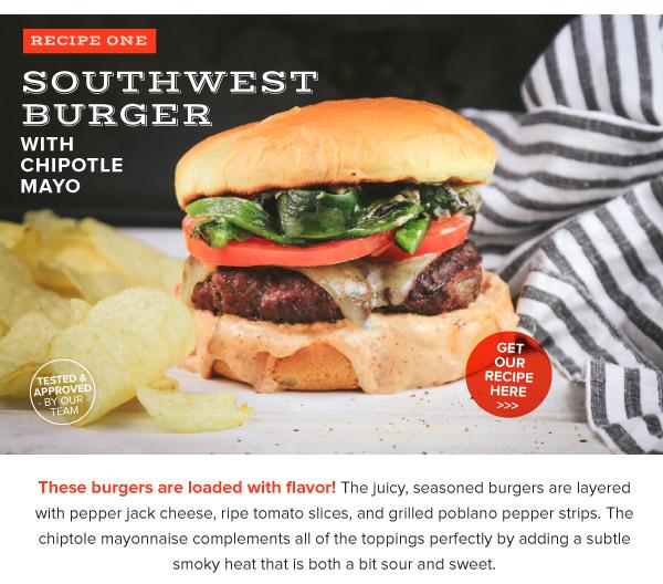 Southwest Burger with Chipotle Mayo