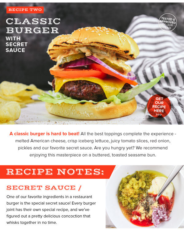 Classic Burger with Secret Sauce