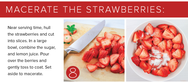 Macerate the Strawberries