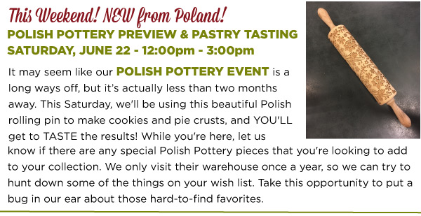 Polish Pottery Preview