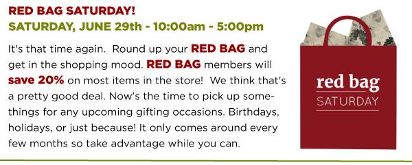 Red Bag Saturday