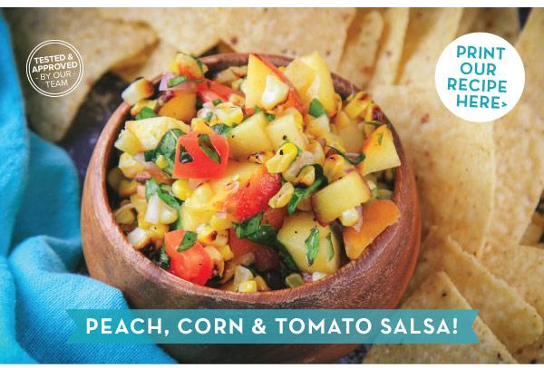 Peach Corn Tomato Salsa