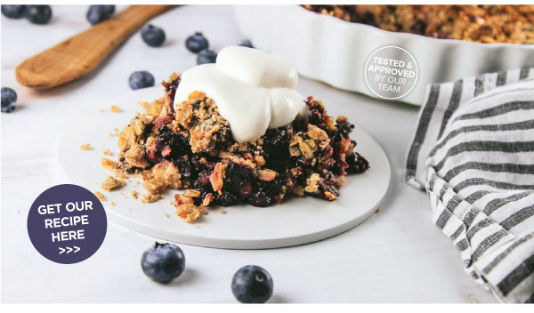 Blue Ribbon Blueberry Crisp
