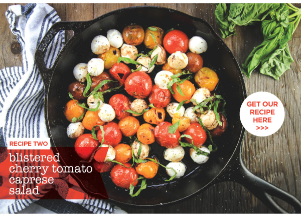 Blistered Cherry Tomato Caprese Salad