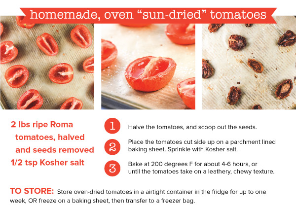 Homemade Oven Sun-Dried Tomatoes